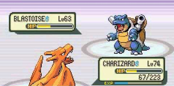 pokemon charizard vs blastoise