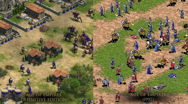 age of empires definitive edition comparison