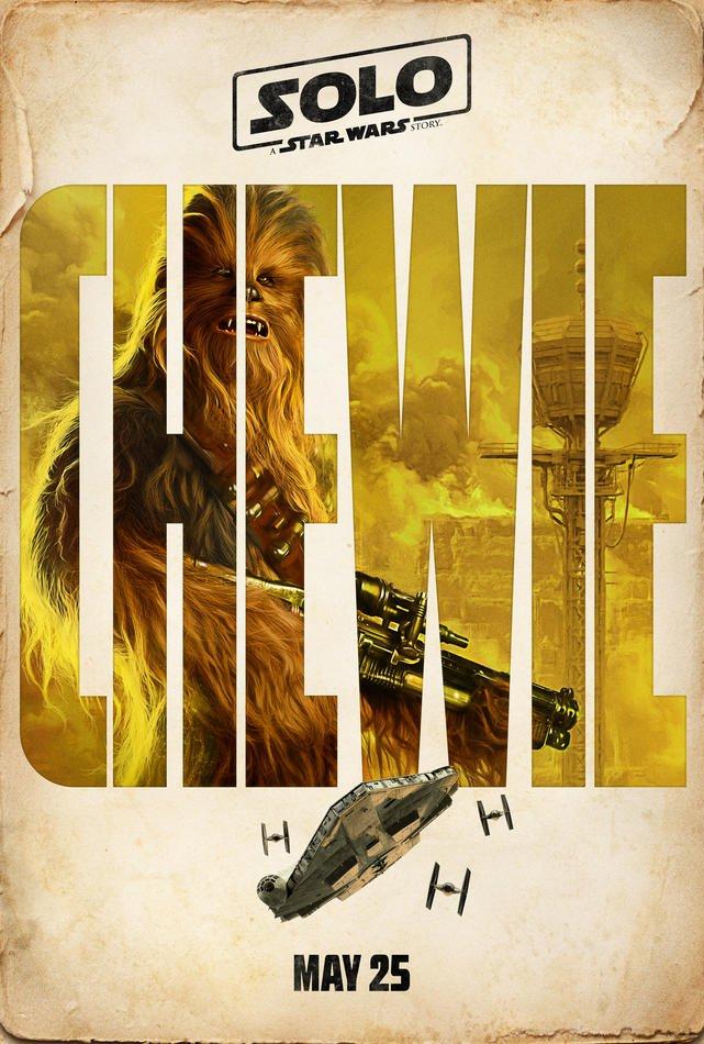 chewie star wars poster
