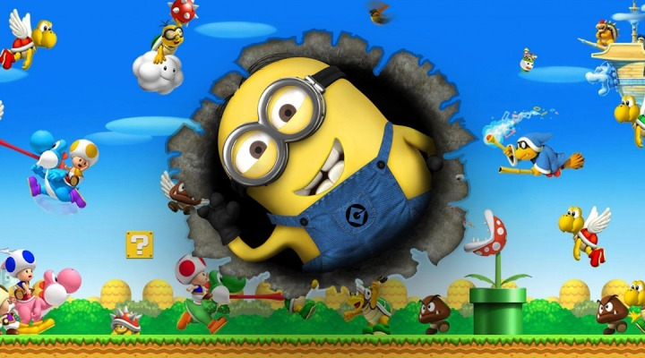 super mario movie minions