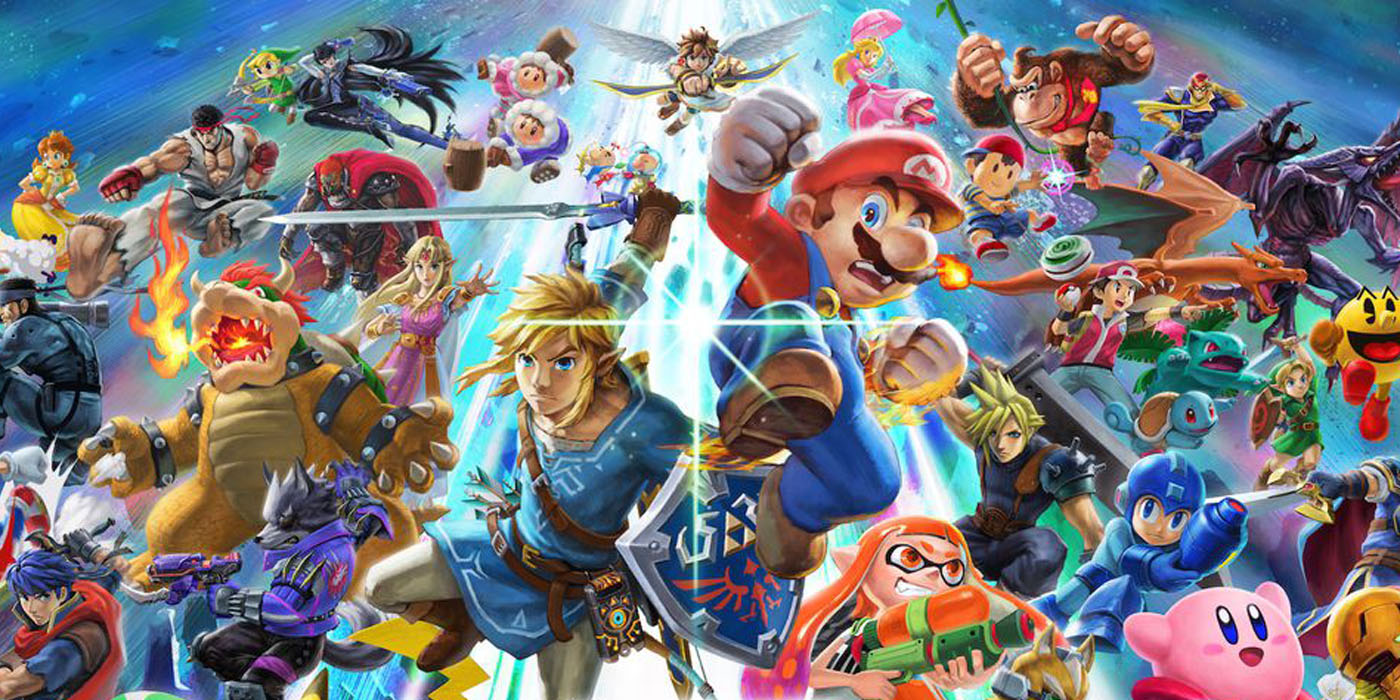 super smash bros ultimate key art
